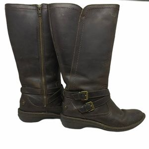 UGG Rosen Tall Leather Boots Wool Lined